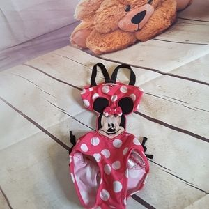 3/$15 Disney Minnie Mouse pink polka dot swimsuit